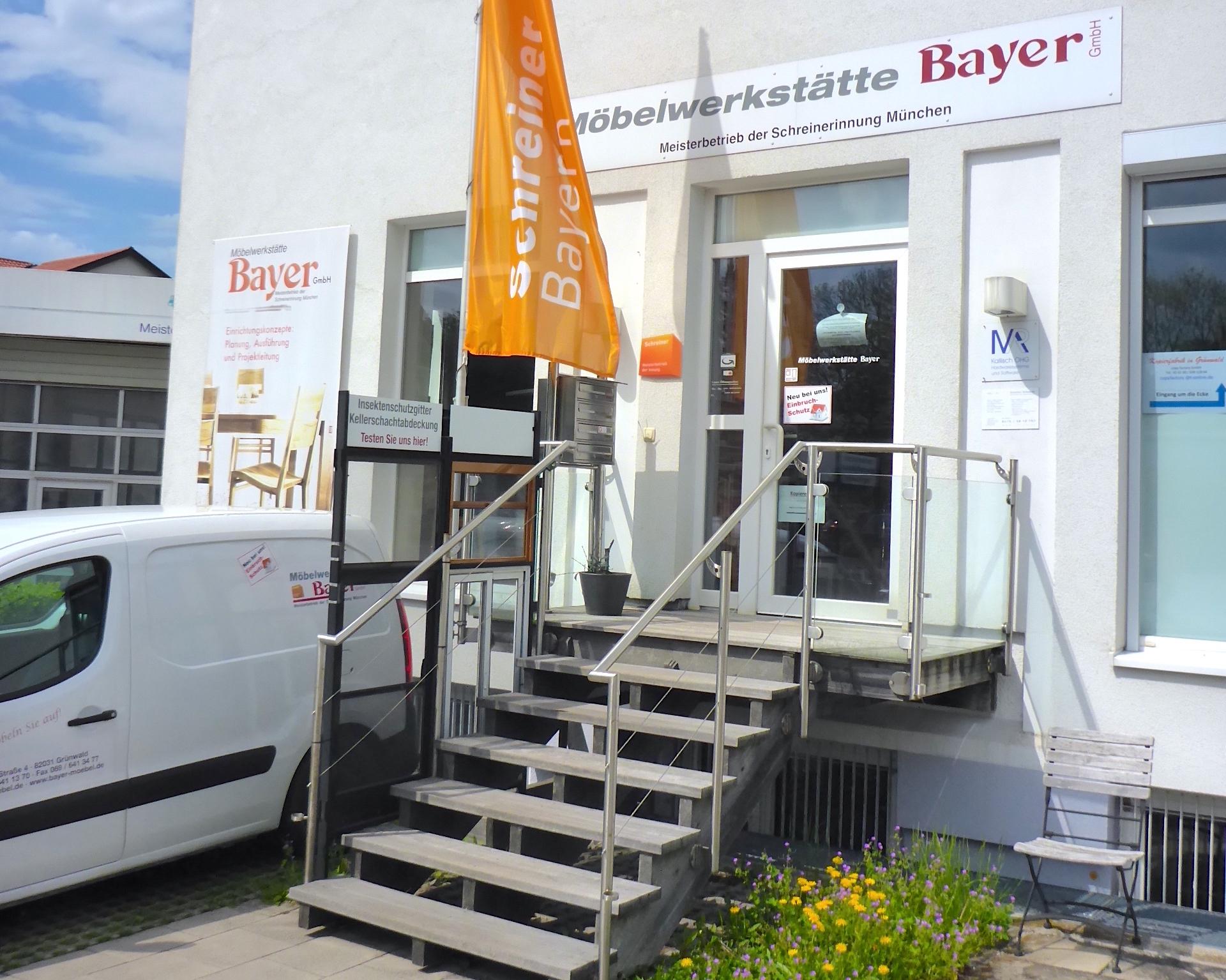 Der Firmensitz der Schreinerei Bayer in der Emil-Geiss-Straße 4